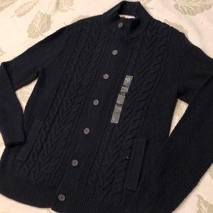 Banana Republic black cardigan sweater NWT